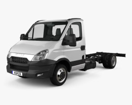 3D model of Iveco Daily Single Cab Chassis 2012