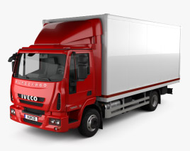 3D model of Iveco EuroCargo Box Truck 2013
