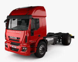 3D model of Iveco EuroCargo Chassis Truck 2013