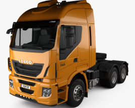 3D model of Iveco Stralis Tractor Truck 2012