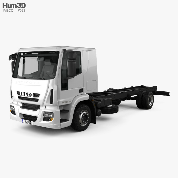 3D model of Iveco EuroCargo Chassis Truck (140E-E25) 2013