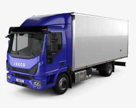 3D model of Iveco EuroCargo 75-210 Box Truck 2015