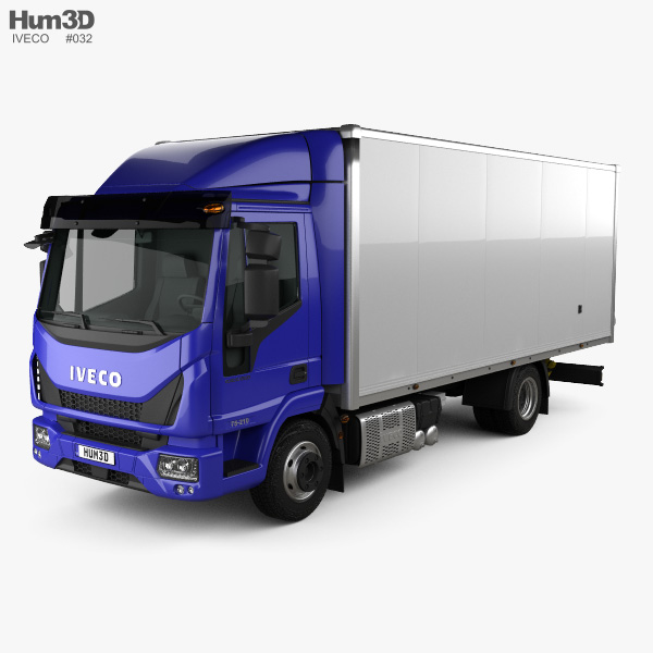 3D model of Iveco EuroCargo 75-210 Box Truck 2015