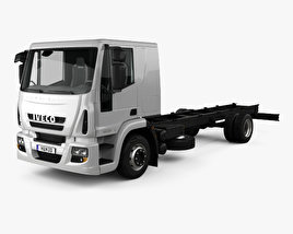 3D model of Iveco EuroCargo Chassis Truck (140E-E25) with HQ interior 2013