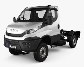3D model of Iveco Daily 4×4 Single Cab Chassis 2017