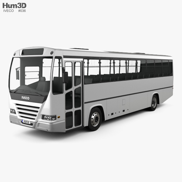3D model of Iveco Afriway Bus 2016