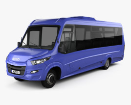 3D model of Iveco Daily VSN-700 Bus 2018