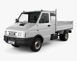 3D model of Iveco Daily Single Cab Tipper 1996