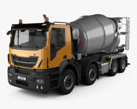 3D model of Iveco Stralis X-WAY Mixer Truck 2017