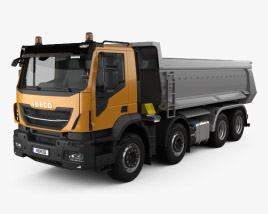 3D model of Iveco Stralis X-WAY Tipper Truck 2017