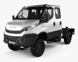 3D model of Iveco Daily 4×4 Dual Cab Chassis 2017