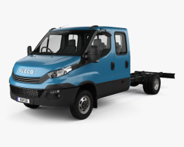 3D model of Iveco Daily Dual Cab Chassis 2017