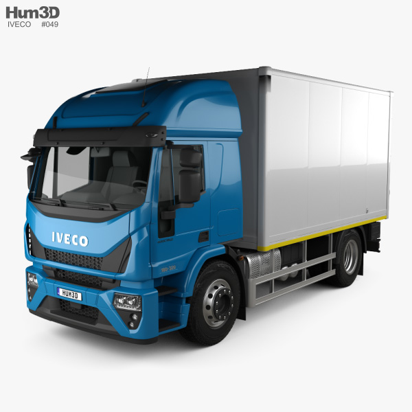 3D model of Iveco EuroCargo Box Truck 2019