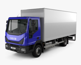 3D model of Iveco EuroCargo Box Truck 2015