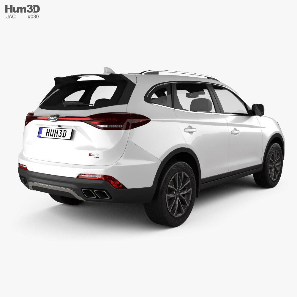 JAC Sei7 2020 3d model back view