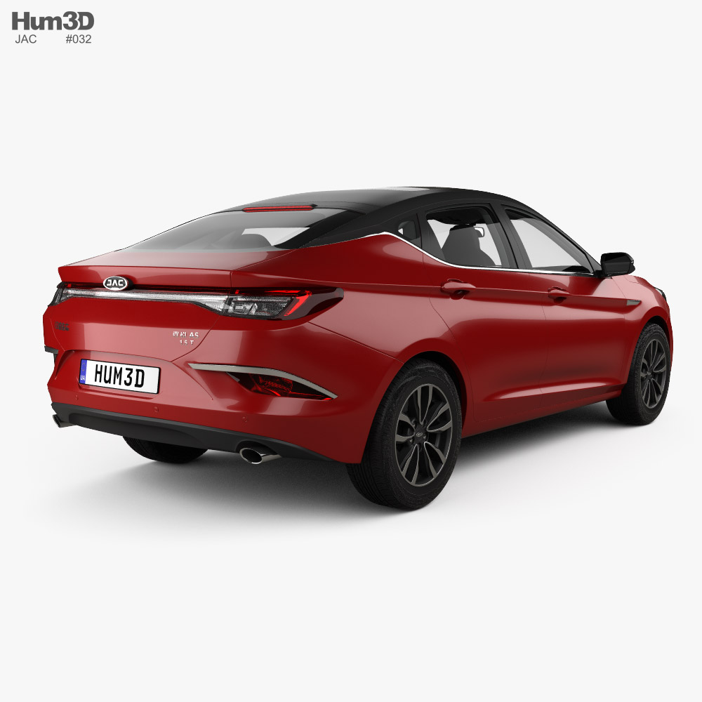 JAC A5 with HQ interior 2019 3d model back view
