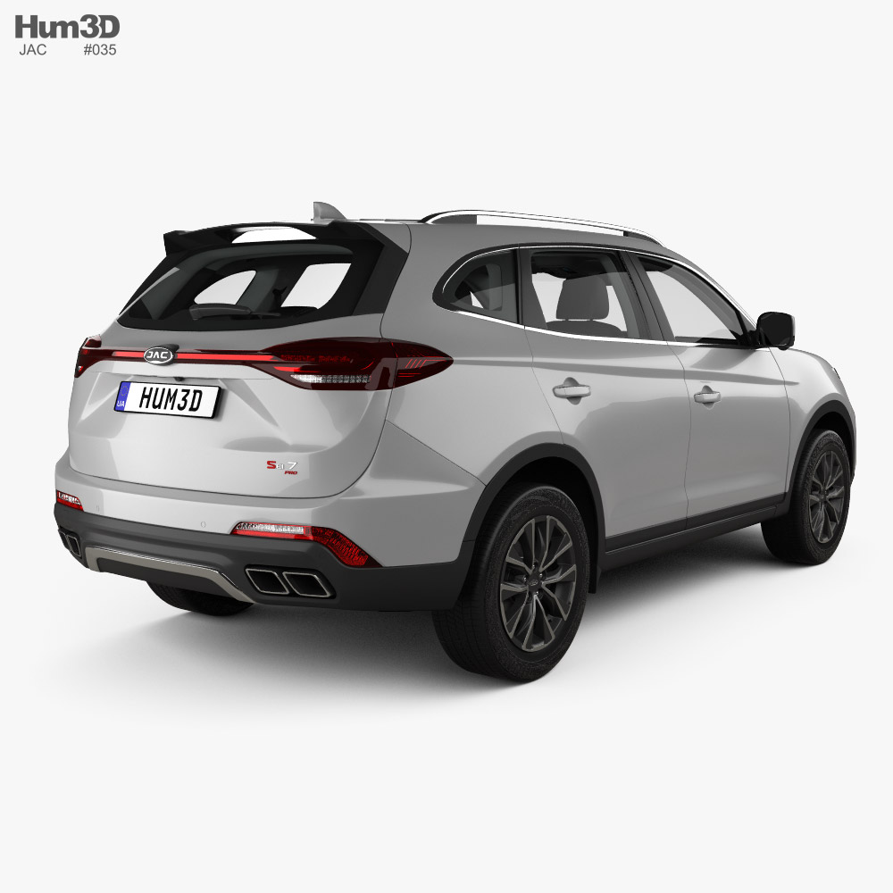 JAC Sei7 with HQ interior 2020 3d model back view