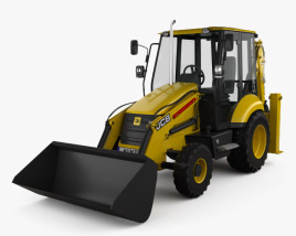 3D model of JCB Midi CX Backhoe Loader 2014