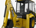 JCB Midi CX Backhoe Loader 2014 3d model