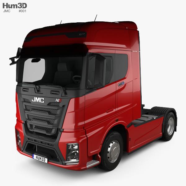 JMC Weilong HV5 Tractor Truck 2018 3D model
