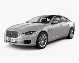 3D model of Jaguar XJ (X351) 2010
