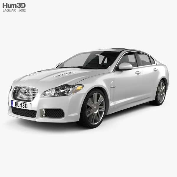 3D model of Jaguar XFR 2011