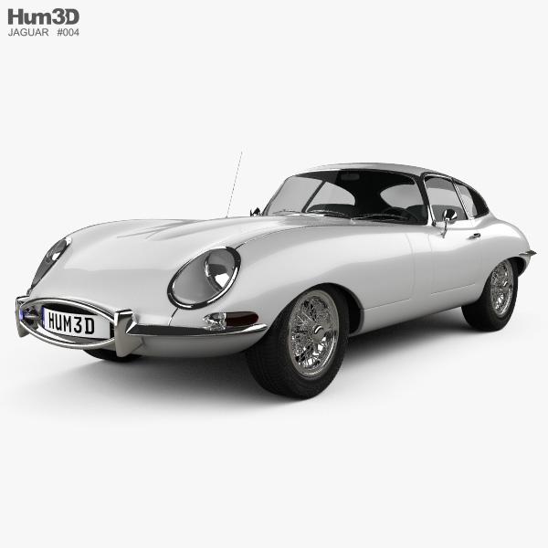 Jaguar E-type coupe 1961 3D model