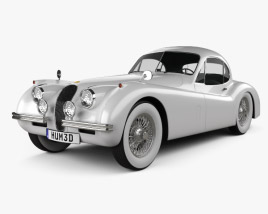 3D model of Jaguar XK120 coupe 1953