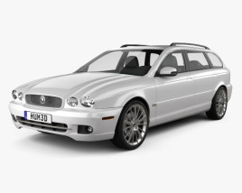 3D model of Jaguar X-Type estate 2009