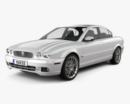 3D model of Jaguar X-Type saloon 2009