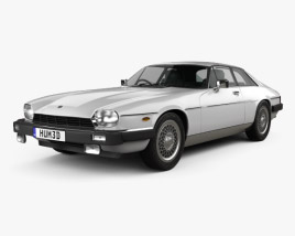 3D model of Jaguar XJ-S coupe 1975