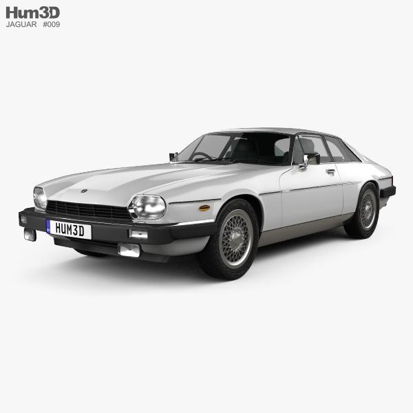 Jaguar XJ-S coupe 1975 3D model
