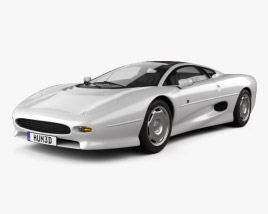 3D model of Jaguar XJ220 1992