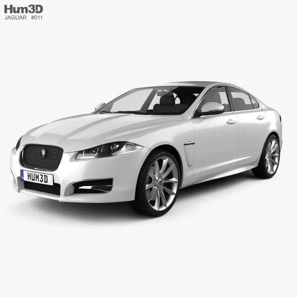 3D model of Jaguar XF 2012