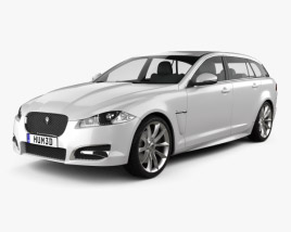 3D model of Jaguar XF Sportbrake 2012