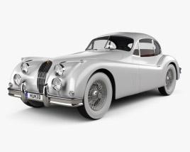 Jaguar XK 140 coupe with HQ interior 1954 3D model