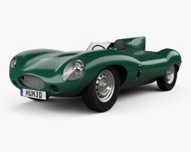 3D model of Jaguar D-Type 1955