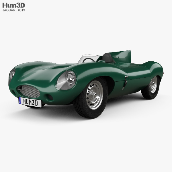 Jaguar D-Type 1955 3D model