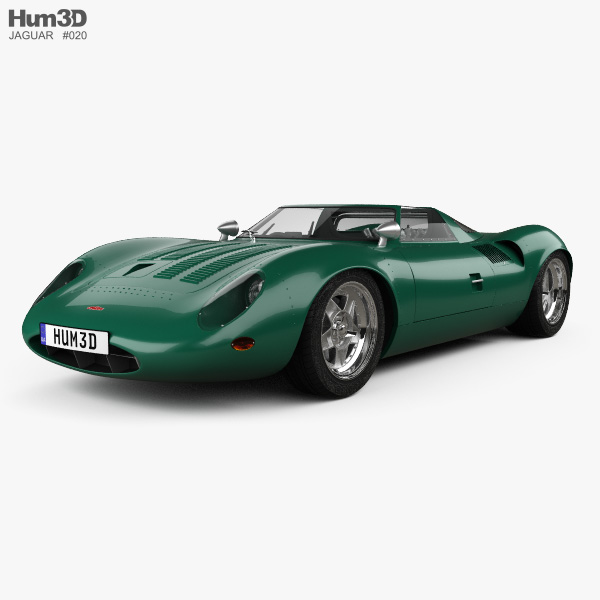 3D model of Jaguar XJ13 1966
