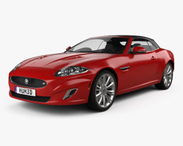 3D model of Jaguar XKR convertible 2011