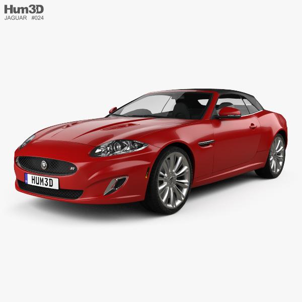 Jaguar XKR convertible 2011 3D model