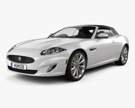 3D model of Jaguar XK convertible 2011
