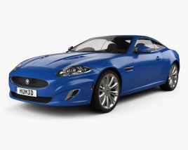 3D model of Jaguar XK coupe 2011