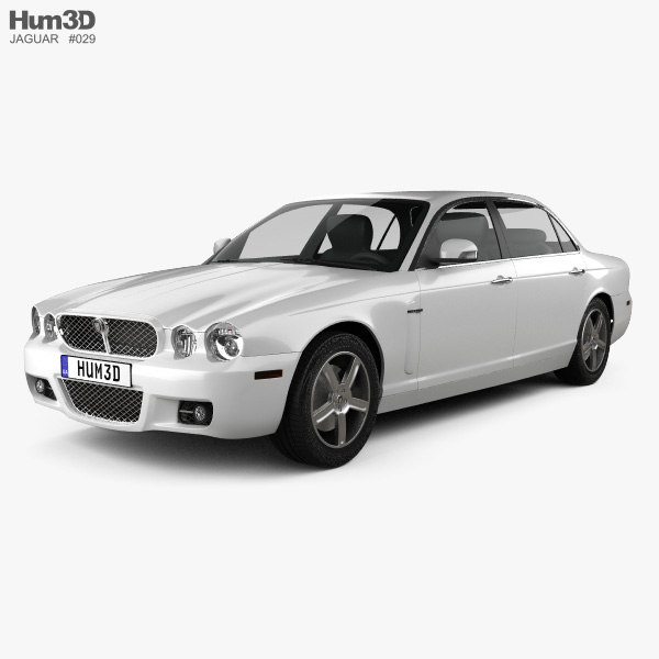 3D model of Jaguar XJ (X358) 2007