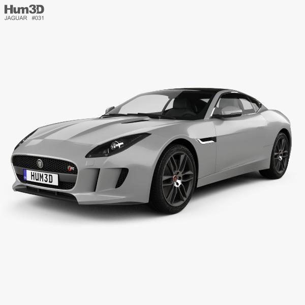 Jaguar F-Type R coupe 2014 3D model