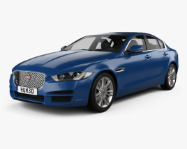 3D model of Jaguar XE 2015