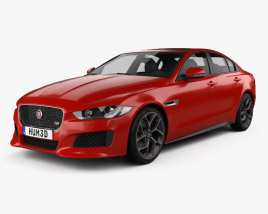 3D model of Jaguar XE S 2015