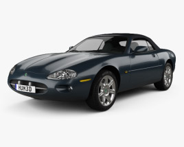 3D model of Jaguar XK8 convertible 1996