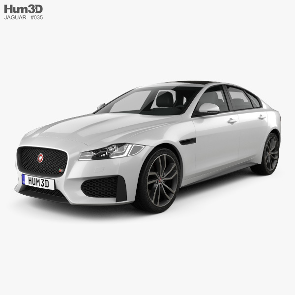 3D model of Jaguar XF S 2016