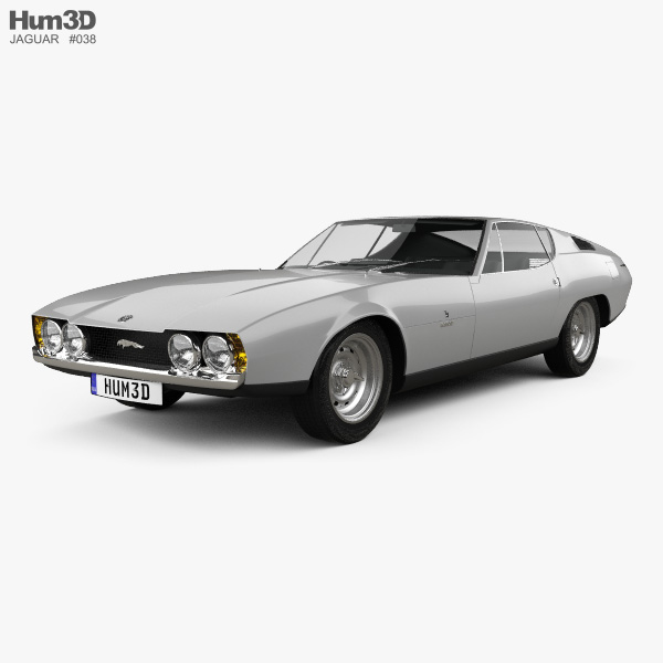 3D model of Jaguar Bertone Pirana 1967